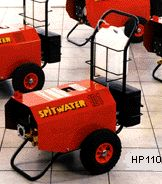 Spitwater pressure cleaners